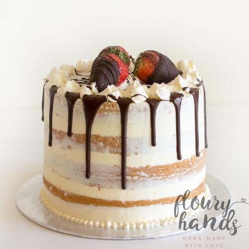 semi naked drip cake 3