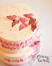 pink butterfly cake 3