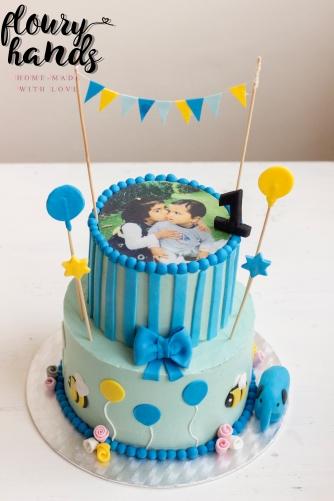 blue birthday cake 1