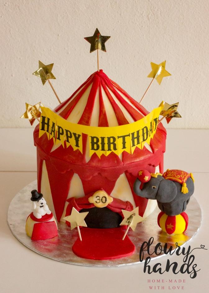 Vintage circus cake 1 elephant and dog