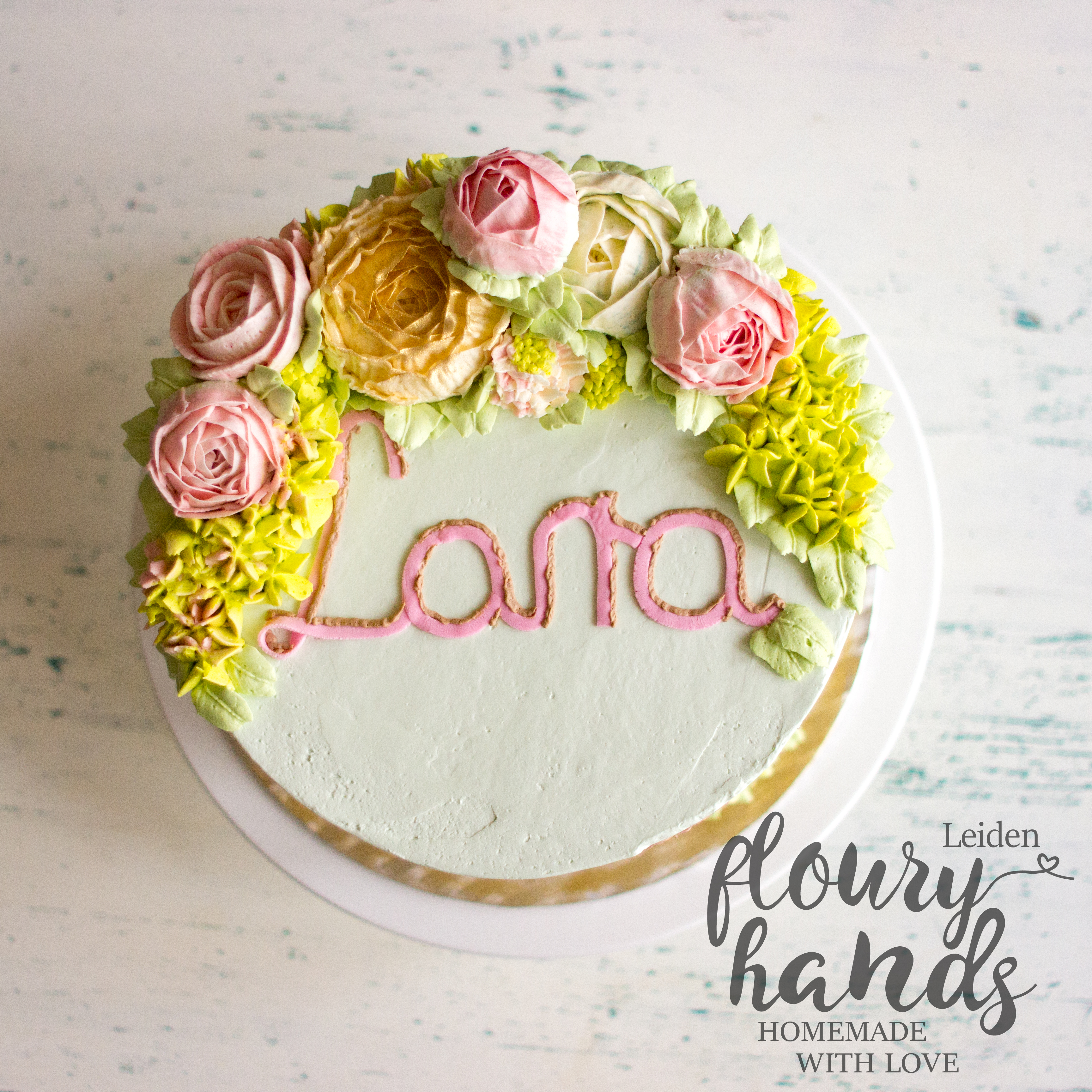 Horse Themed Cake With Buttercream Flowers Floury Hands