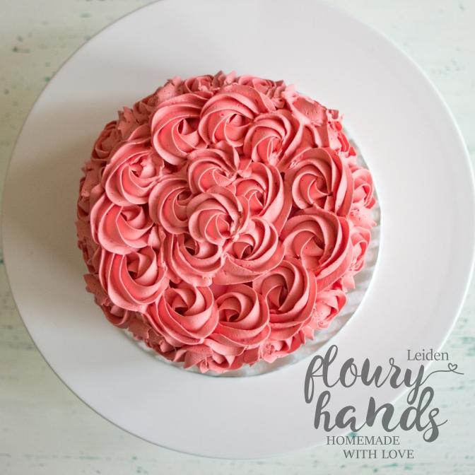 pink rosette buttercream 3