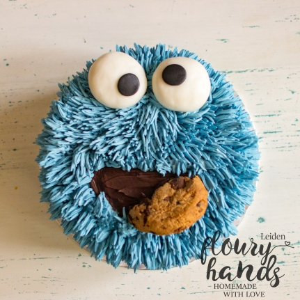 cookie monster cake 2