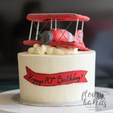 vintage airplane birthday cake 3