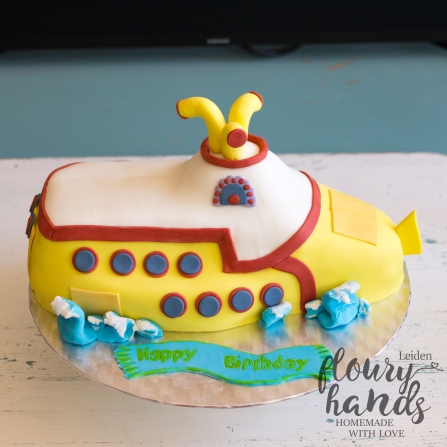 yellow submarine birthday cake
