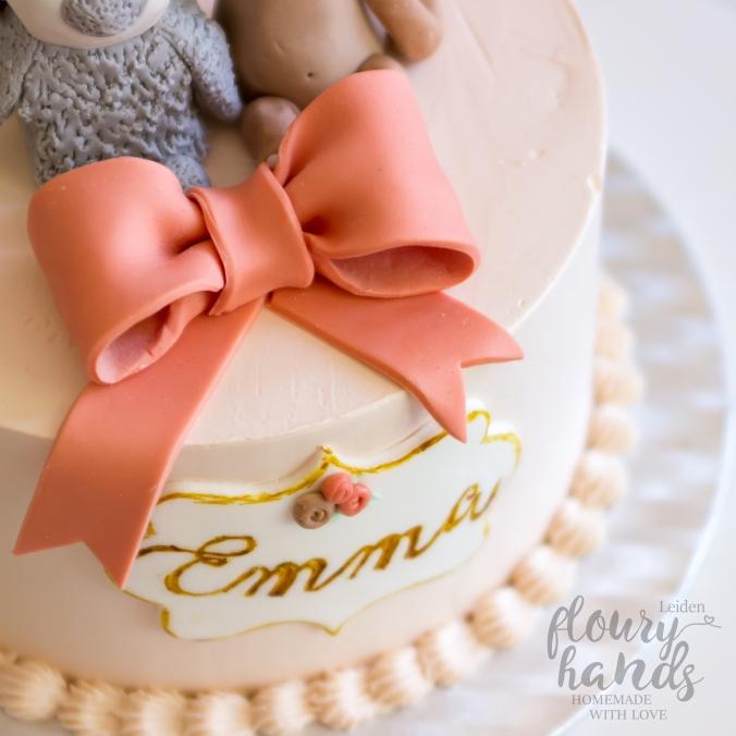 penguin monkey girl birthday cake