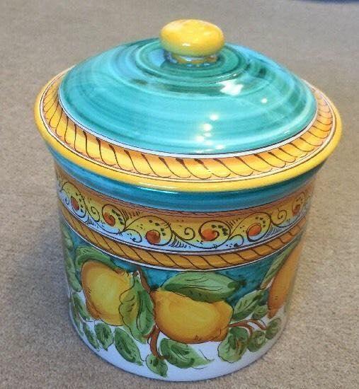 italian ceramics hand painted lemon trees