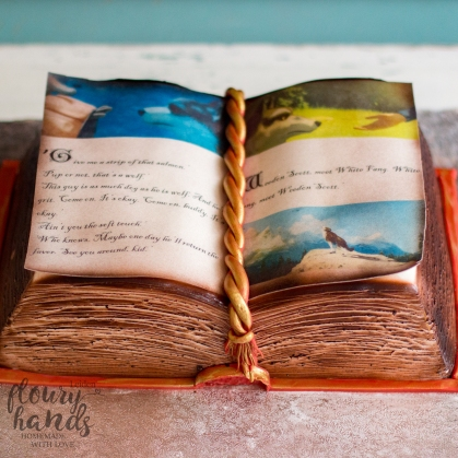 white fang book cake