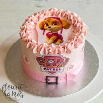 Paw Patrol - Skye birthday cake pink