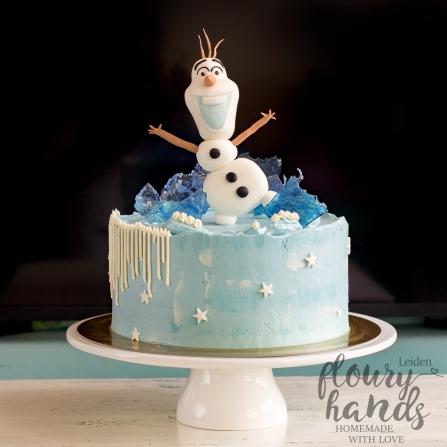 Olaf (Frozen) birthday cake