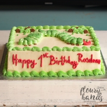 the very hungry caterpillar 1st birthday cake 3