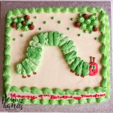 the very hungry caterpillar 1st birthday cake