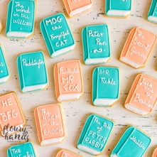 book shape sugar cookies 3