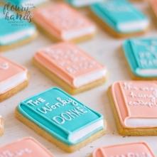 book shape sugar cookies