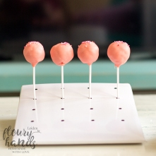 pink cake pops girl first birthday