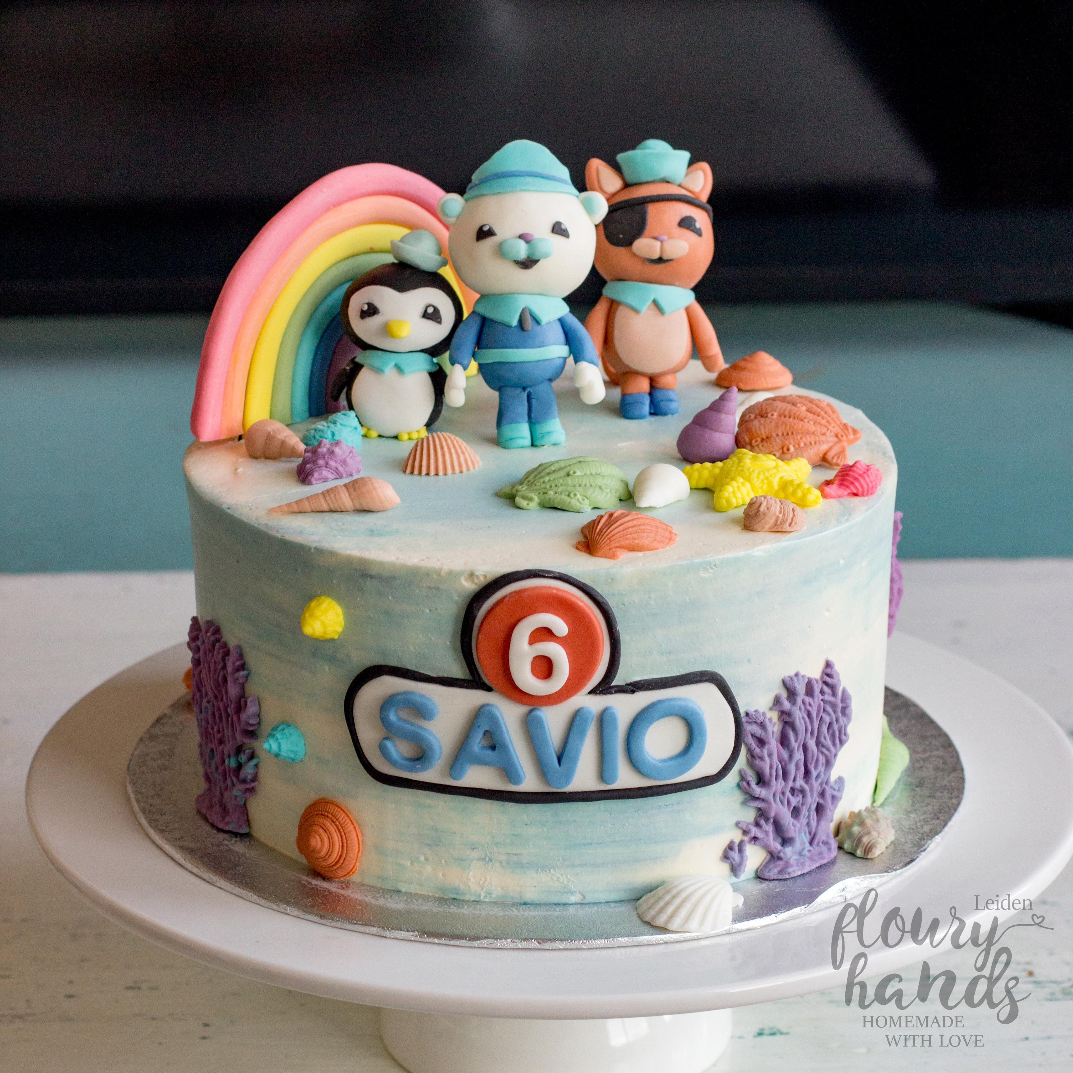 Octonauts And Rainbow Birthday Cake Floury Hands