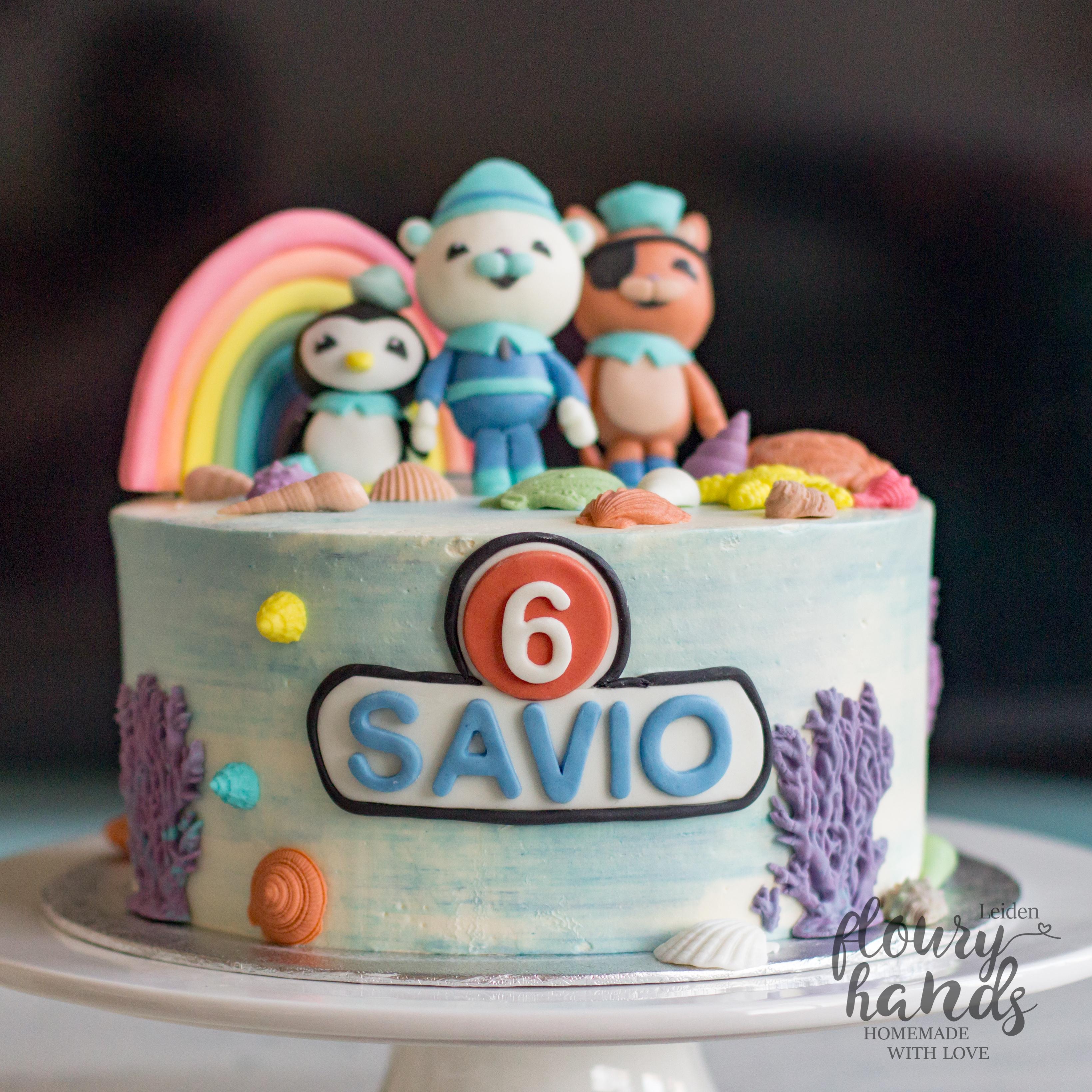 Octonauts And Rainbow Birthday Cake