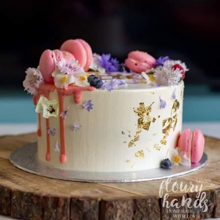 beautiful pink baby shower cake girl