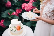 styled shoot at the greenhouse spring wedding cake